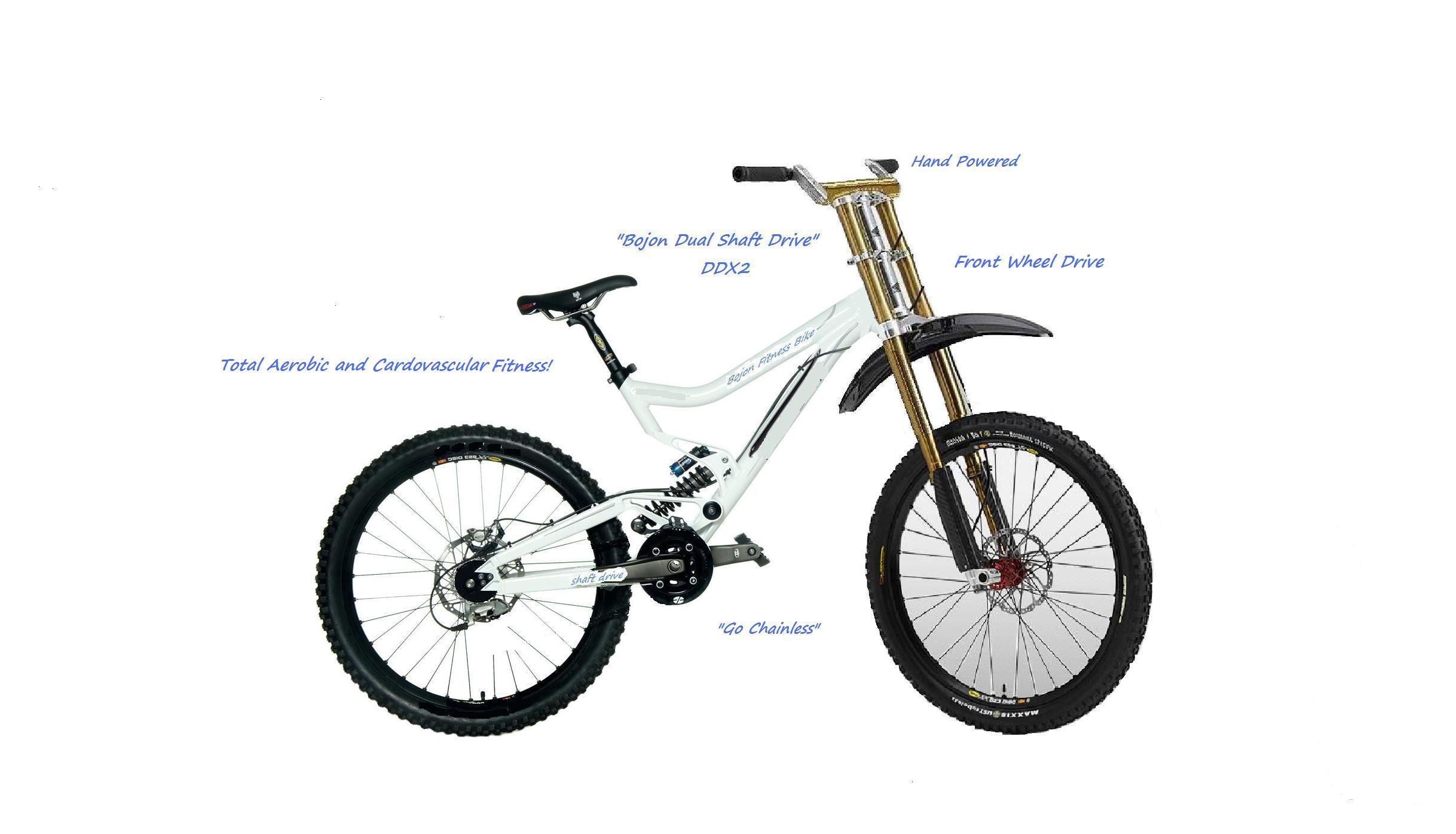 NEW!!Chain-less hand driven front wheel drive!